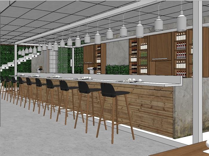 现代欧式生态绿色简约餐厅(1)