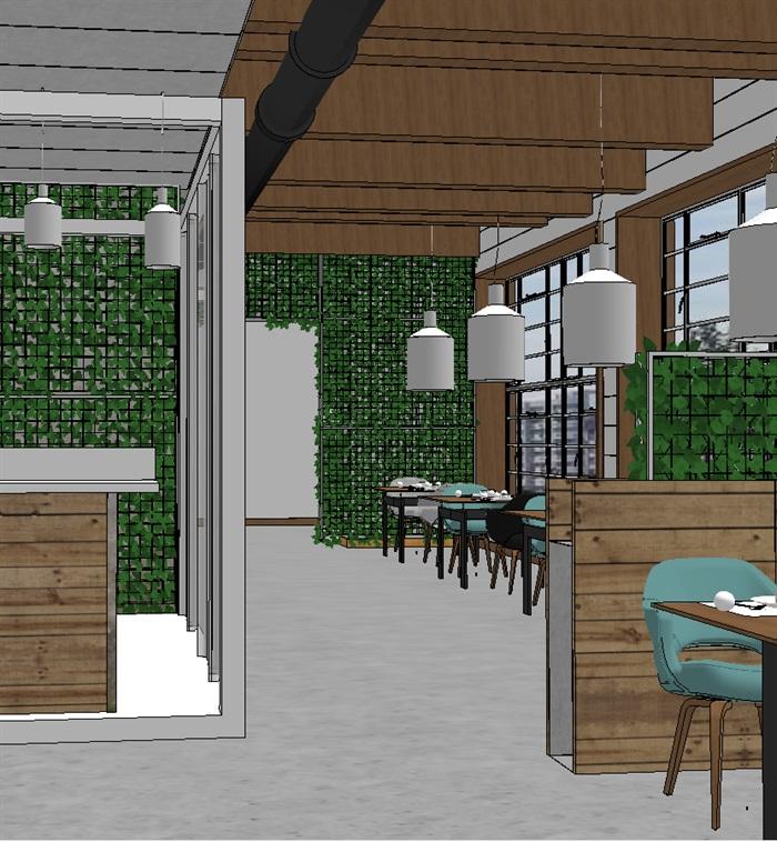 现代欧式生态绿色简约餐厅(7)
