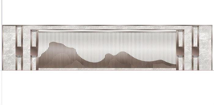 现代典雅山石片岩山水景墙(50款)(3)