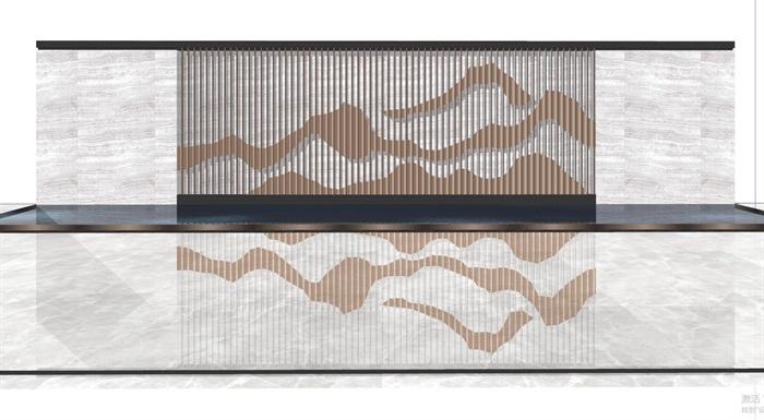现代典雅山石片岩山水景墙(50款)(4)