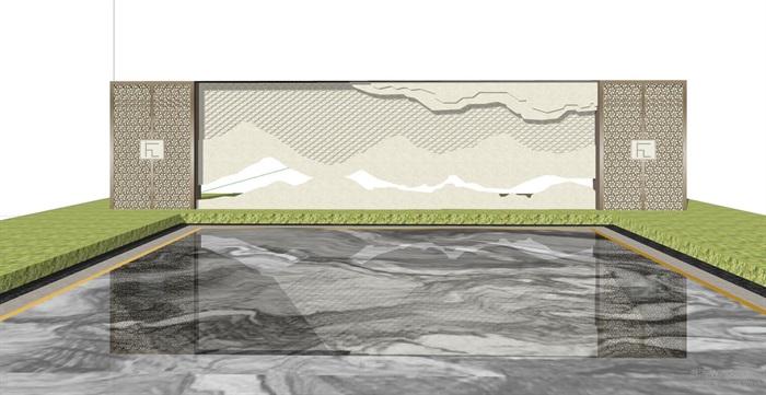 现代典雅山石片岩山水景墙(50款)(5)