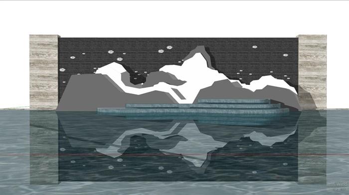 现代典雅山石片岩山水景墙(50款)(8)