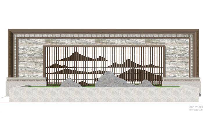 现代典雅山石片岩山水景墙(50款)(10)