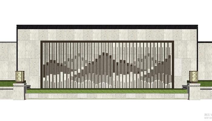 现代典雅山石片岩山水景墙(50款)(11)