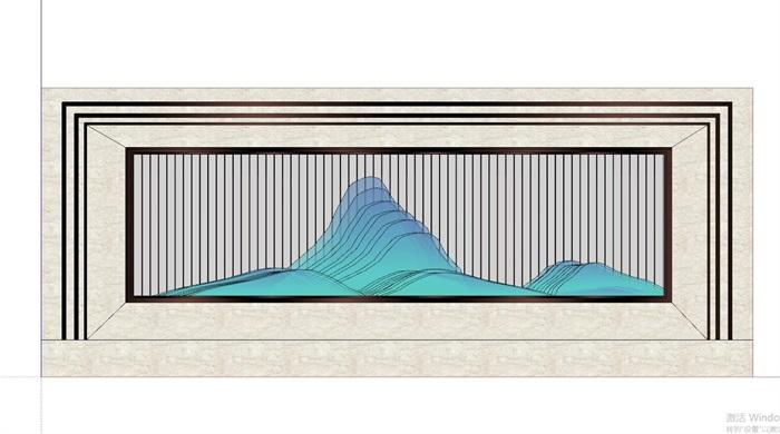 现代典雅山石片岩山水景墙(50款)(12)