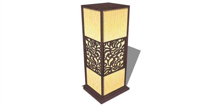 24款创意新中式景观灯具设计su模型[原创]