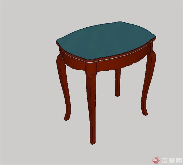 某室内小桌子设计su模型