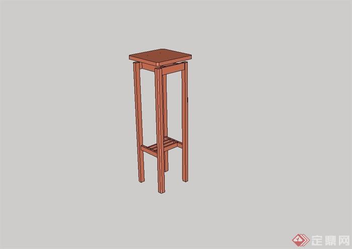 某现代风格室内坐凳su模型