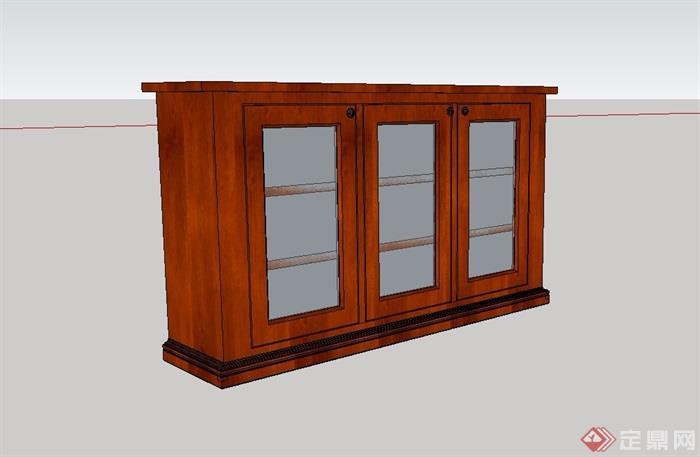 某详细完整的木柜子设计su模型[原创]