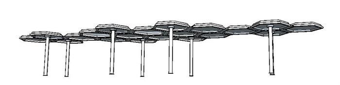 某独特造型的廊架su模型