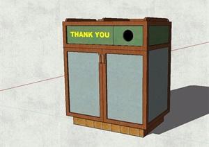 现代风格分类垃圾箱SU(草图大师)模型
