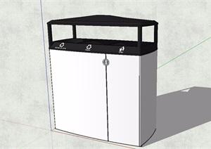 现代分类垃圾桶设计SU(草图大师)模型