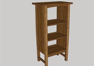 全木质置物柜设计SU(草图大师)模型