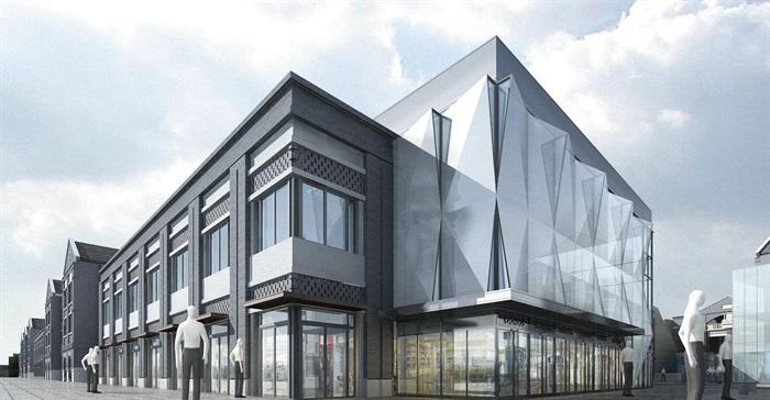 某商业民国风商业街特色商业街民国建筑su精细模型