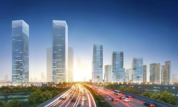 某商业综合体超高层办公楼高层酒店公寓su(2)