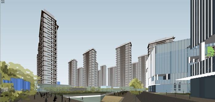 某商业综合体超高层办公楼高层酒店公寓su(6)