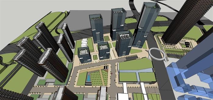 某商业综合体超高层办公楼高层酒店公寓su(9)