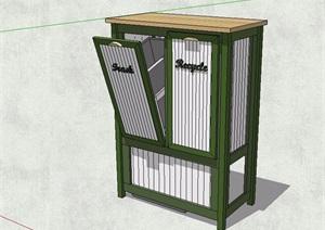 现代风格分类垃圾箱详细设计SU(草图大师)模型