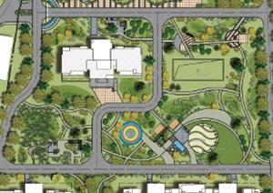 小区彩色平面图PSD方案