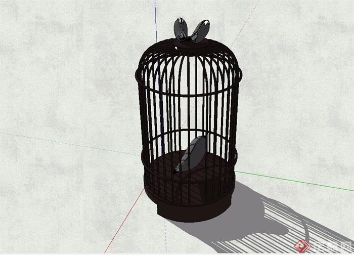 某庭院鸟笼小品素材设计su模型[原创]