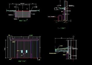 彩板建筑素材说设计cad大样图