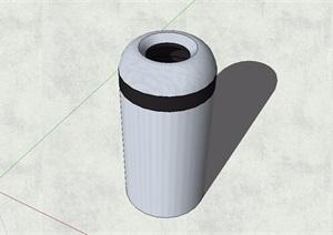 精品现代风格园林垃圾桶设计SU(草图大师)模型