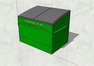 现代小型垃圾收站设计SU(草图大师)模型