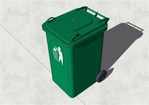 街道环卫可移动垃圾桶素材SU(草图大师)模型