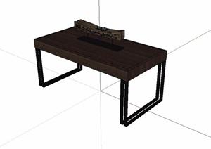 古典中式风格木质案台SU(草图大师)模型