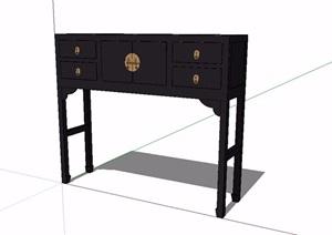 某古典中式风格桌柜SU(草图大师)模型
