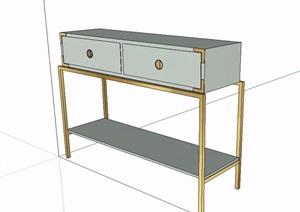 中式风格简单的桌子设计SU(草图大师)模型