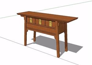 古典中式风格案台桌SU(草图大师)模型