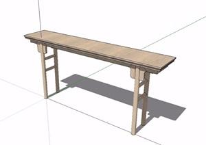 某古典中式风格案桌子设计SU(草图大师)模型