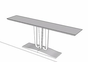 现代风格室内桌子SU(草图大师)模型