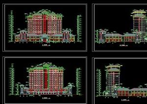 汇景酒店全套详细建筑设计cad施工图