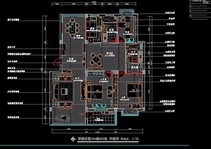 三室两厅家装住宅设计方案图
