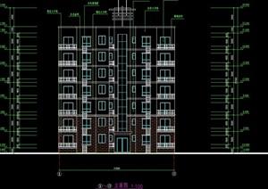 住宅集资房建筑设计cad方案图纸