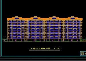 弧形住宅楼建筑设计cad方案