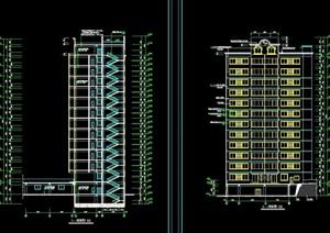 金沙江大酒楼建筑设计cad施工图
