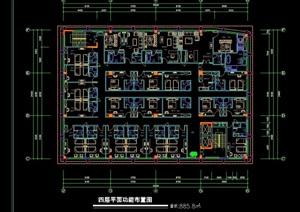 广州某酒店建筑cad平面图