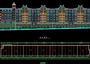 七层商住楼平立面方案图