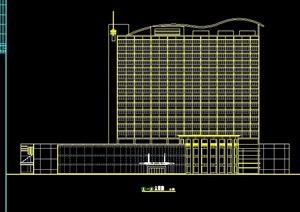 现代高层酒店建筑平立面方案设计