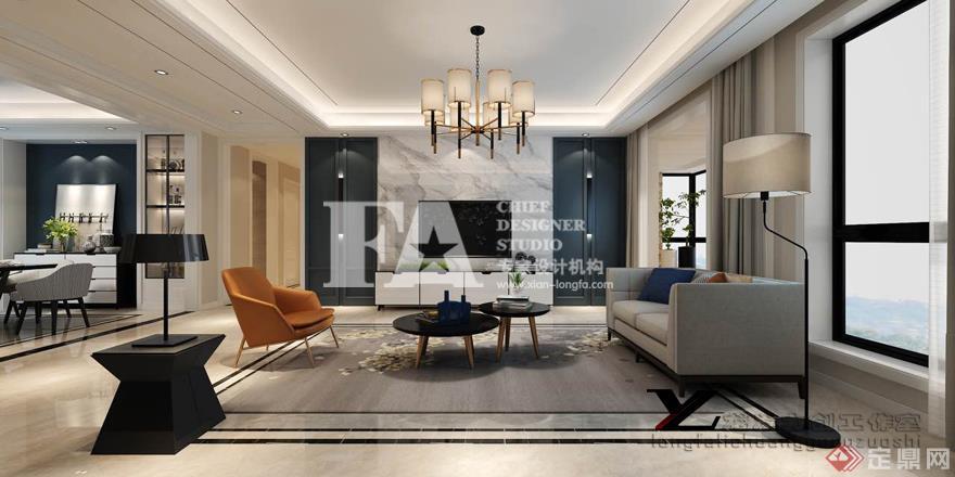 客廳 電視背景墻 現代簡約雅致主義格調 裝修效果圖 天鵝堡