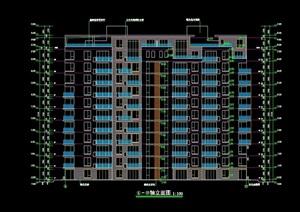 秀枫山庄17栋小高层cad方案图