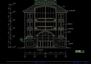五层住宅建筑cad施工图