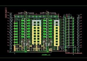 万科高层住宅楼设计cad施工图