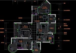 四房两厅高档住宅装饰cad施工图