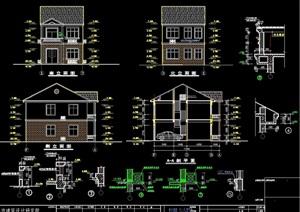 中式私家住宅设计建筑cad施工图