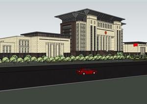 行政办公楼详细建筑设计SU(草图大师)模型