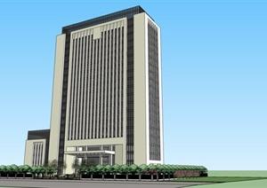 办公区详细高层建筑设计SU(草图大师)模型